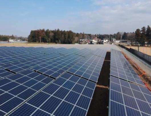 茨城県古河市太陽光発電所