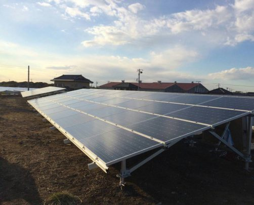 千葉県九十九里 太陽光発電施設