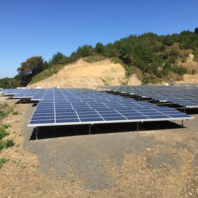 愛媛県西与市 太陽光発電施設