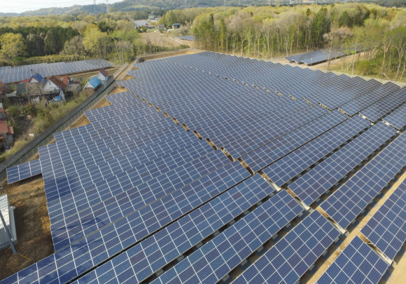 茨城県桜川市太陽光発電所