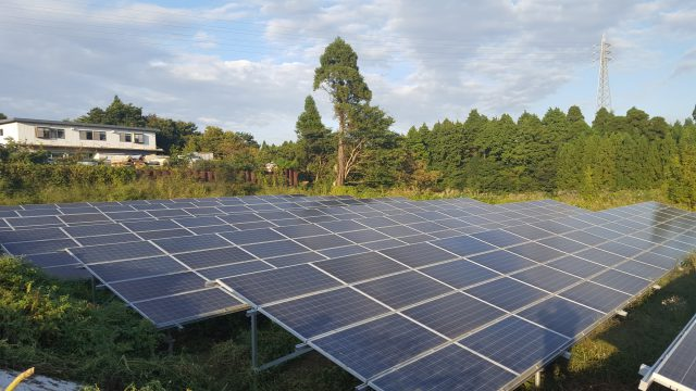 千葉県緑区太陽光発電施設